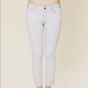 Free people lilac / lavender cropped skinny jeans